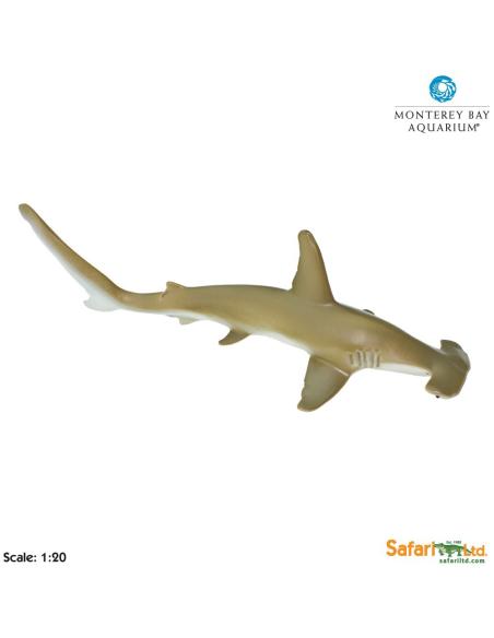 Figurine requin Marteaugéant Safari 210702 Matériel pédagogique Enrichissement Montessori Jouet Cartes maternelle science vocab