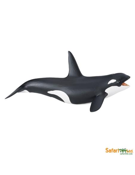 Figurine épaulard Orque Safari 275129 Matériel pédagogique Enrichissement Montessori Jouet Cartes maternelle science vocabulaire