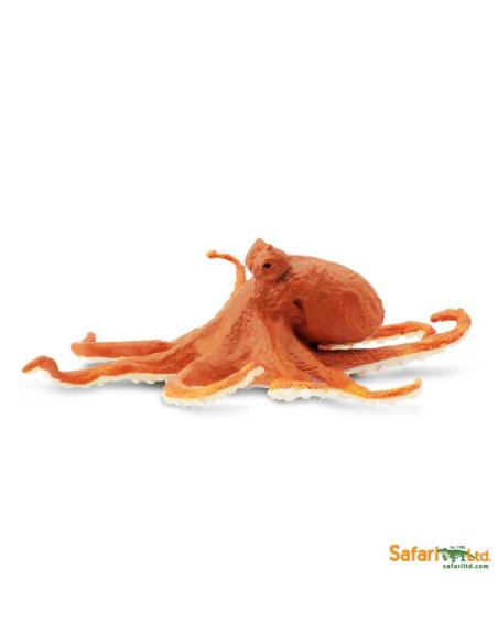 Figurine poulpe Safari 274429 Matériel pédagogique Enrichissement Montessori Jouet Cartes maternelle science vocabulaire jeu