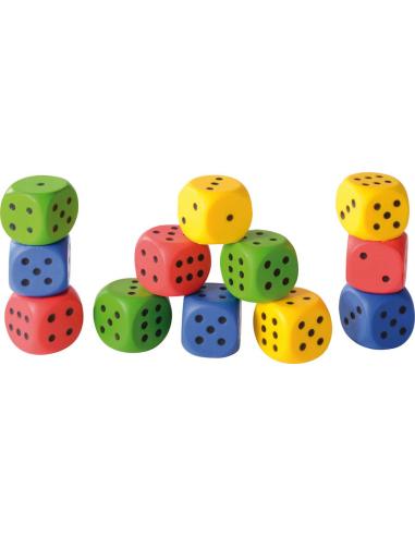 Dé souple mousse 4 cm - Lot de 12 Autres {PRODUCT_REFERENCE}  Probabilité statistique distributivité - 1