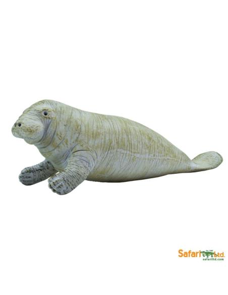Figurine lamantin Safari 273929 Matériel pédagogique Enrichissement Montessori Jouet Cartes maternelle science vocabulaire jeu