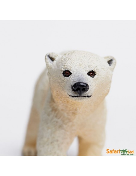 Ours Polaire bébé figurine educative enrichissement montessori