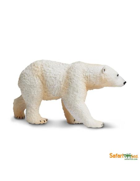 Figurine ours polaire Safari 273329 Matériel pédagogique Enrichissement Montessori Jouet Cartes maternelle science vocabulaire j