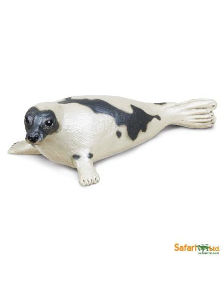 Figurine phoque du Groenland Safari 248829 Matériel pédagogique Enrichissement Montessori Jouet Cartes maternelle science vocabu