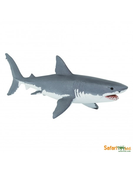 Grand requin blanc  figurine educative enrichissement montessori