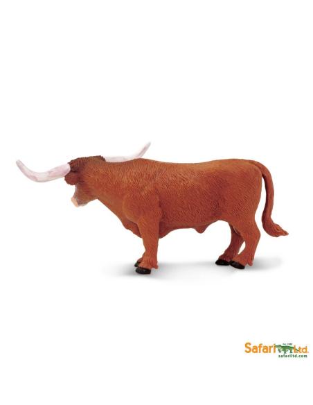 Figurine Taureau Texas Longhorne Safari 236229 Matériel pédagogique Enrichissement Montessori Jouet Cartes maternelle science vo