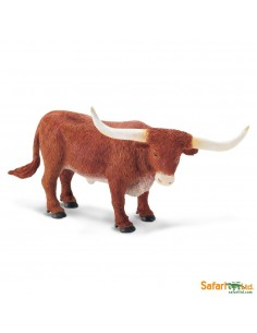 Taureau Texas Long. Cornes figurine safari enrichissement montessori