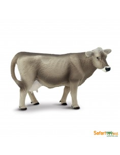 Brown swiss vache figurine safari enrichissement montessori