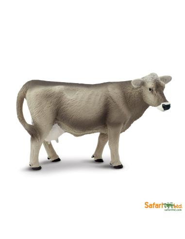 Figurine Vache Brown swiss - Safari Ltd® 161529 Safari Ltd® {PRODUCT_REFERENCE}  Animaux de la ferme et domestiques - 1