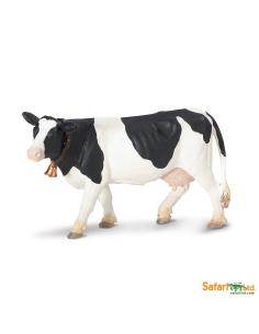 Vache Holstein figurine safari enrichissement montessori