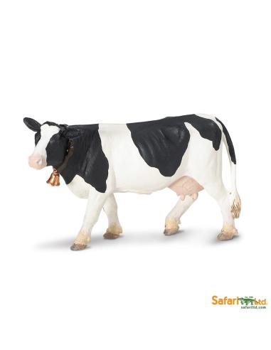 Figurine Vache Holstein Safari 232629 Matériel pédagogique Enrichissement Montessori Jouet Cartes maternelle science vocabulaire