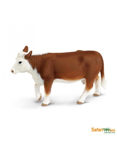 Vache Hereford figurine safari enrichissement montessori