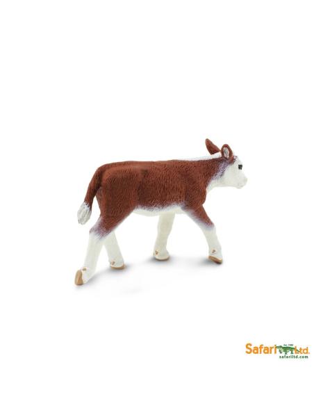 Figurine Veau Hereford Safari 160129 Matériel pédagogique Enrichissement Montessori Jouet Cartes maternelle science vocabulaire