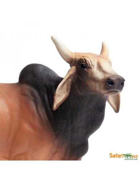 Taureau Brahmane figurine safari enrichissement montessori