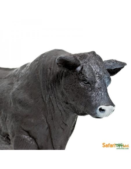 Taureau Angus mâle figurine safari enrichissement montessori