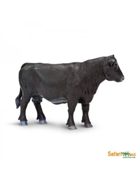 Figurine Vache Angus femelle Safari 160829 Matériel pédagogique Enrichissement Montessori Jouet Cartes maternelle science vocabu