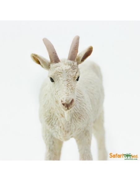 Figurine Chèvre Safari 161129 Matériel pédagogique Enrichissement Montessori Jouet Cartes maternelle science vocabulaire jeu