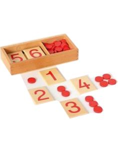 Quantité symbole pair impair Matériel Montessori didactique matériel collectivité haut gamme neuroscience rouge jeton pedagogie