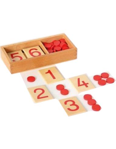 Quantité symbole pair impair Matériel Montessori didactique matériel collectivité haut gamme neuroscience