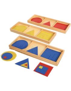 Lot 3 boîtes formes superposables figure superposées concentrique Matériel Montessori 10cm