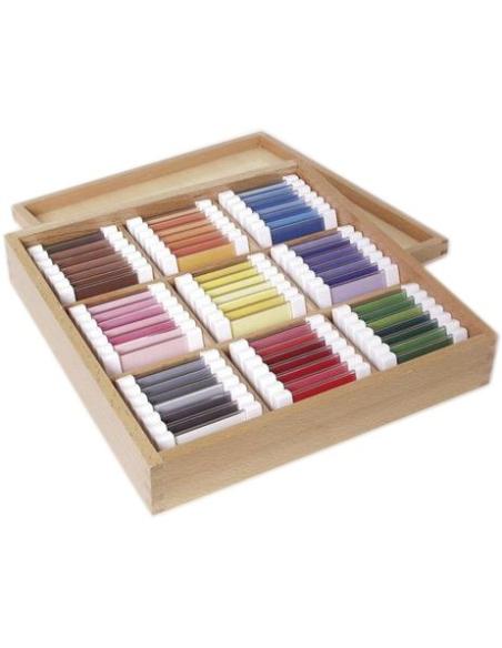 Troisième boîte tablettes degradé 3eme couleur matériel montessori didactique activité apprendre neuroscience maternelle
