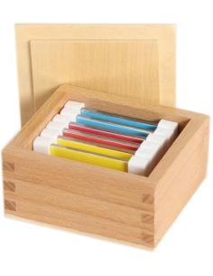 Première boîte 1ere couleurs Matériel Montessori didactique pedagogique classe scolaire discrimination visuelle primaire