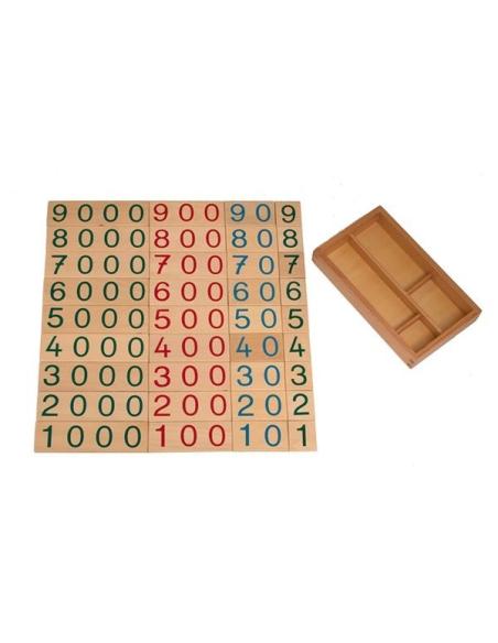 Très grand Symbole 1 9000 bois Matériel Montessori didactique operation calcul numeration pedagogique educatif graphie france ac
