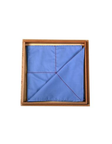 bo te tissus mouchoirs plier ligne rouge materiel montessori pratique. Black Bedroom Furniture Sets. Home Design Ideas