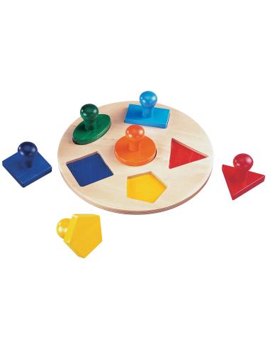 Encastrement géométrique nido materiel montessori didactique maths puzzle forme