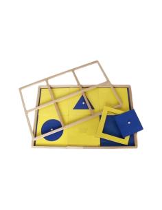 Plateau présentation formes simples geometrie materiel montessori