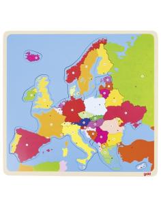 Carte EUROPE pays capitale montessori educatif géographie enseignement enfant jeu puzzle