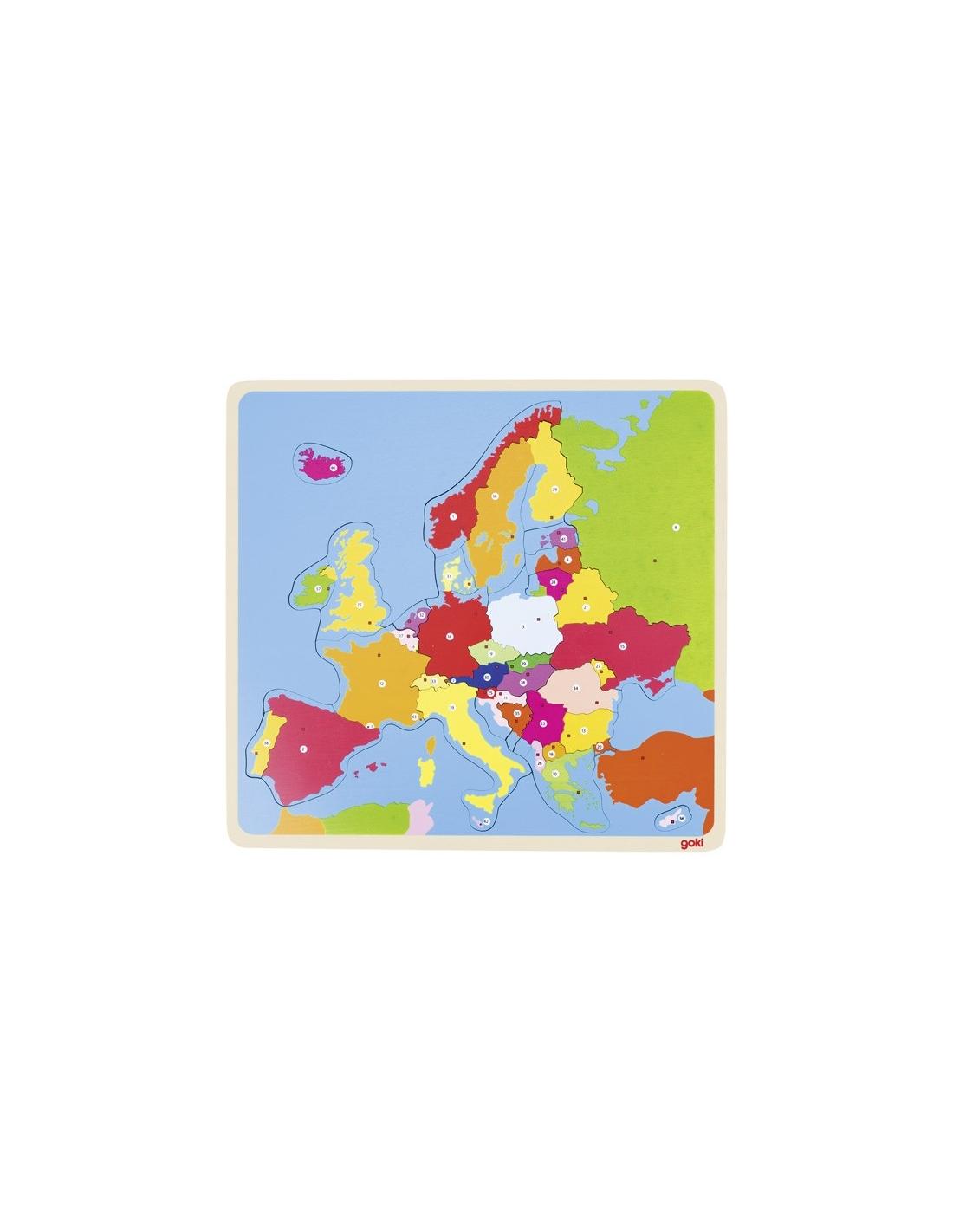 Carte De Leurope Jeux Educatifs.Carte Europe Goki Apprendre Les Pays Capitale Jeu Educatif Puzzle Bois