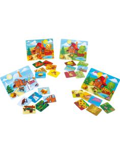 Jeu loto Les saisons éducatif pédagogique Montessori Cognitif enfant vocabulaire temps ete hiver