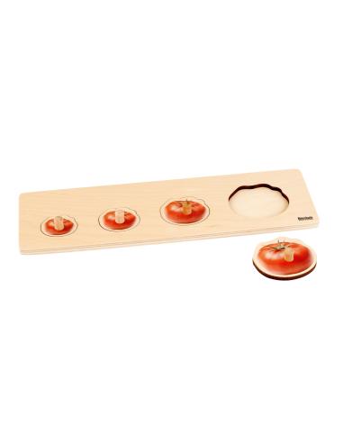 Puzzle premier âge : 4 tomates Montessori Nienhuis {PRODUCT_REFERENCE}  Motricité - 1