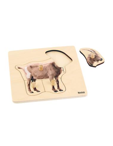 Puzzle premier âge : Chèvre Montessori Nienhuis {PRODUCT_REFERENCE}  Motricité - 1