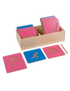 Lettres Montessori modele français lettre alphabet rugeuse apprendre a ecrire lire didactique