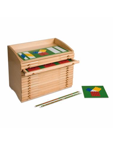Cabinet des fractions Montessori Nienhuis {PRODUCT_REFERENCE}  Géométrie - 1
