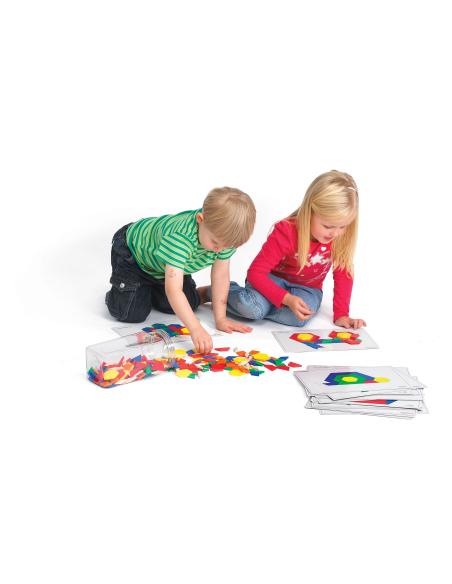 Cartes attrimaths fichier jeu geometrique reproduire pavage animaux activite materiel pedagogique educatif