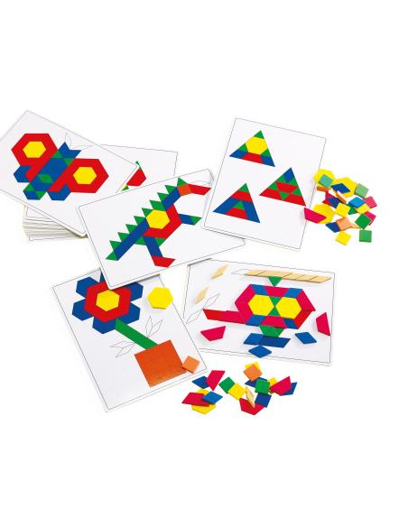 Cartes attrimaths fichier jeu geometrique reproduire pavage animaux a4 feuille photocopier materiel maternelle ecole primaire