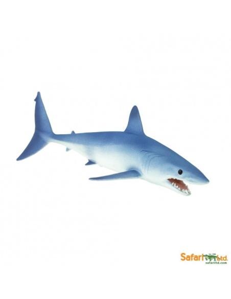 Figurine Requin Mako Safari 201929 Matériel pédagogique Enrichissement Montessori Jouet Cartes maternelle science vocabulaire je