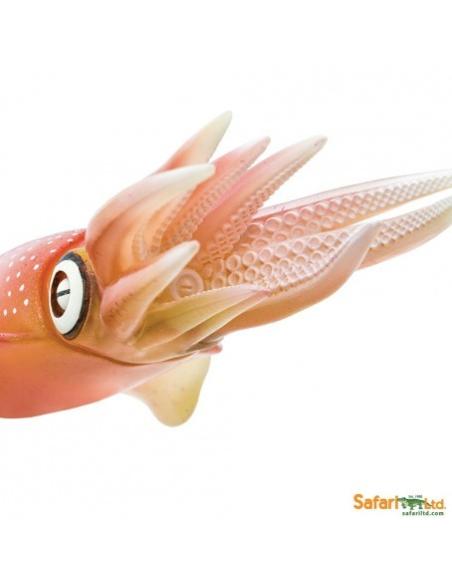 Figurine Calmar récif Safari 266229 Matériel pédagogique Enrichissement Montessori Jouet Cartes maternelle science vocabulaire j