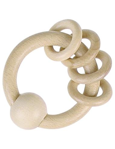 Hochet anneau bébé Nido Montessori panier trésor GOKI Heimess boule bois naturel bio ecolo motricite