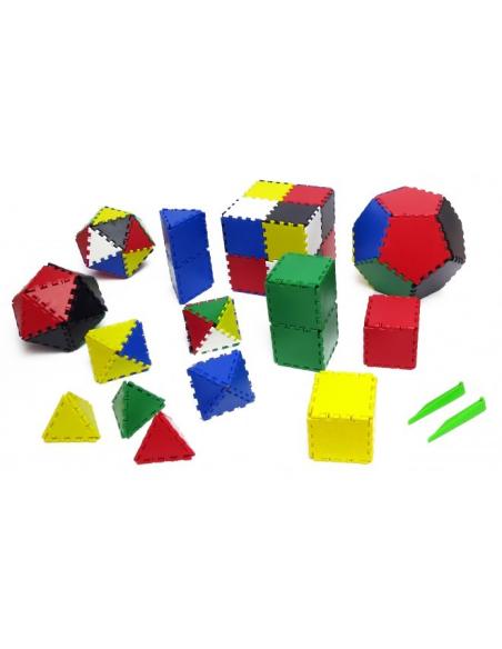 Jeu pédagogique Lokon lot de matériel de géométrie plane et spatiale