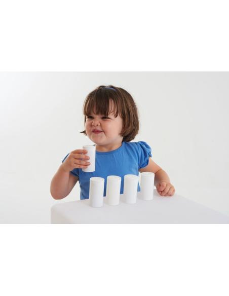 Flacons odeurs pot odorat decouverte sens materiel pedagogique montessori educatif ecole maternelle activite maison jeu parent