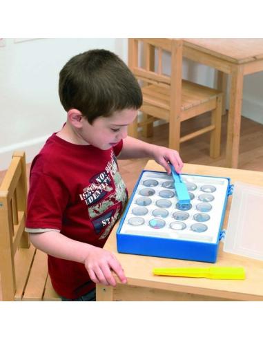 Jeu des aimants magnetiques ou pas pour classe individuel ou groupe matériel educatif montessori IEF ecole cycle 1 2 3