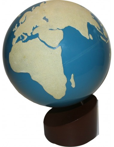 Globe rugueux Montessori - Terre/Mer LesMinis Montessori 109722  Géographie - 1