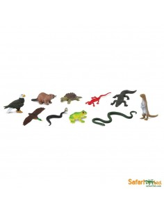Les animaux de rivière figurine educative montessori education serpent aigle loutre ouaouaron tortue