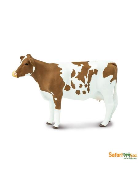 Vache Ayrshire Figurine Safari Montessori enrichissement école maternelle primaire vache vie ferme geographie europe