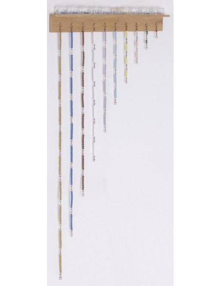 Support chaîne courte perles Matériel Montessori didactique ecole maternelle cycle 1 2 3 mobilier classe