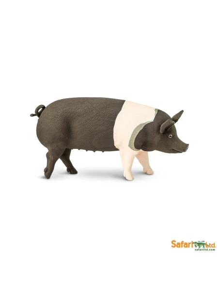 porc cochon hampshire Figurine Safari Montessori enrichissement école maternelle primaire vache vie ferme geographie europe